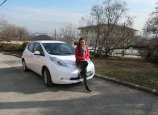 Geszler Dorottya és a Nissan Leaf_1
