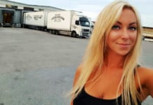 Angelica Larsson női kamionsofőr