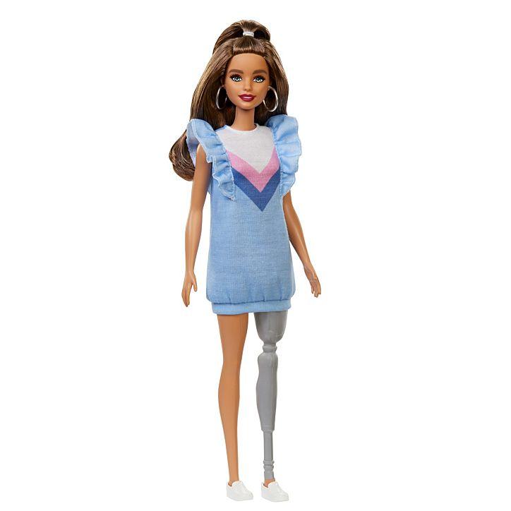 műlábas Barbie