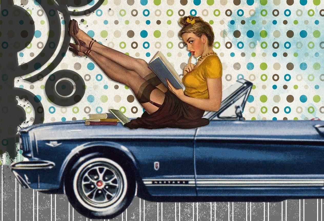 pin-up autóreklám