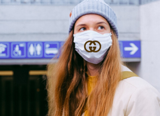 orvosi maszk koronavírus luxusmárka gucci