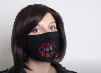 LED-es maszk