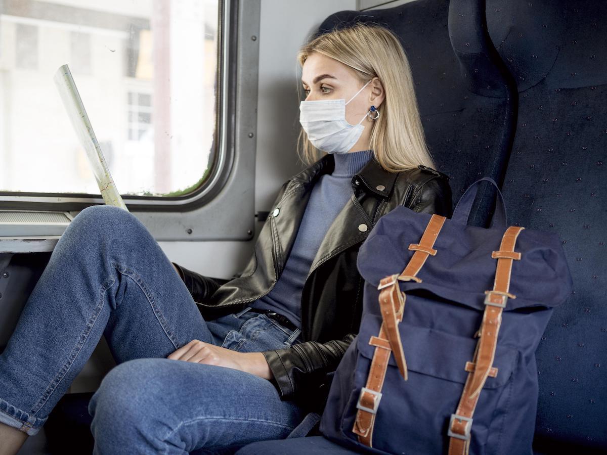 vasúti közlekedés szájmaszk