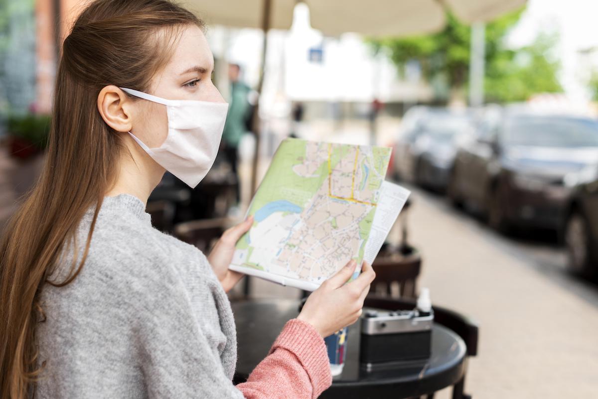 koronavírus utazás térkép turista