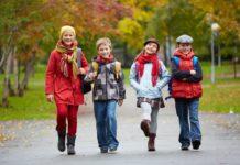 gyerekek közlekedés iskola ősz