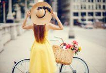 kerékpározó nő bringázási szokások