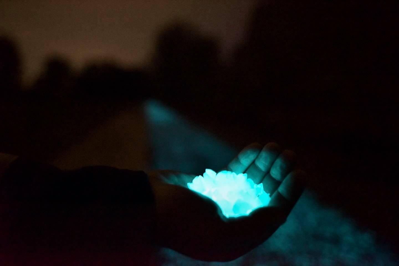 fotolumineszcens boroszilikát világító kerékpárút