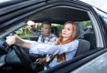 veszekedés autóban