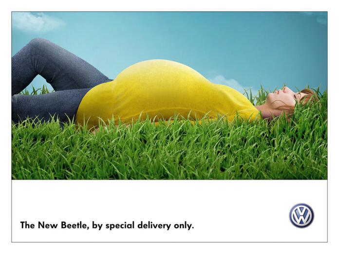 vw volkswagen new beetle bogár anyák napja autós reklámok
