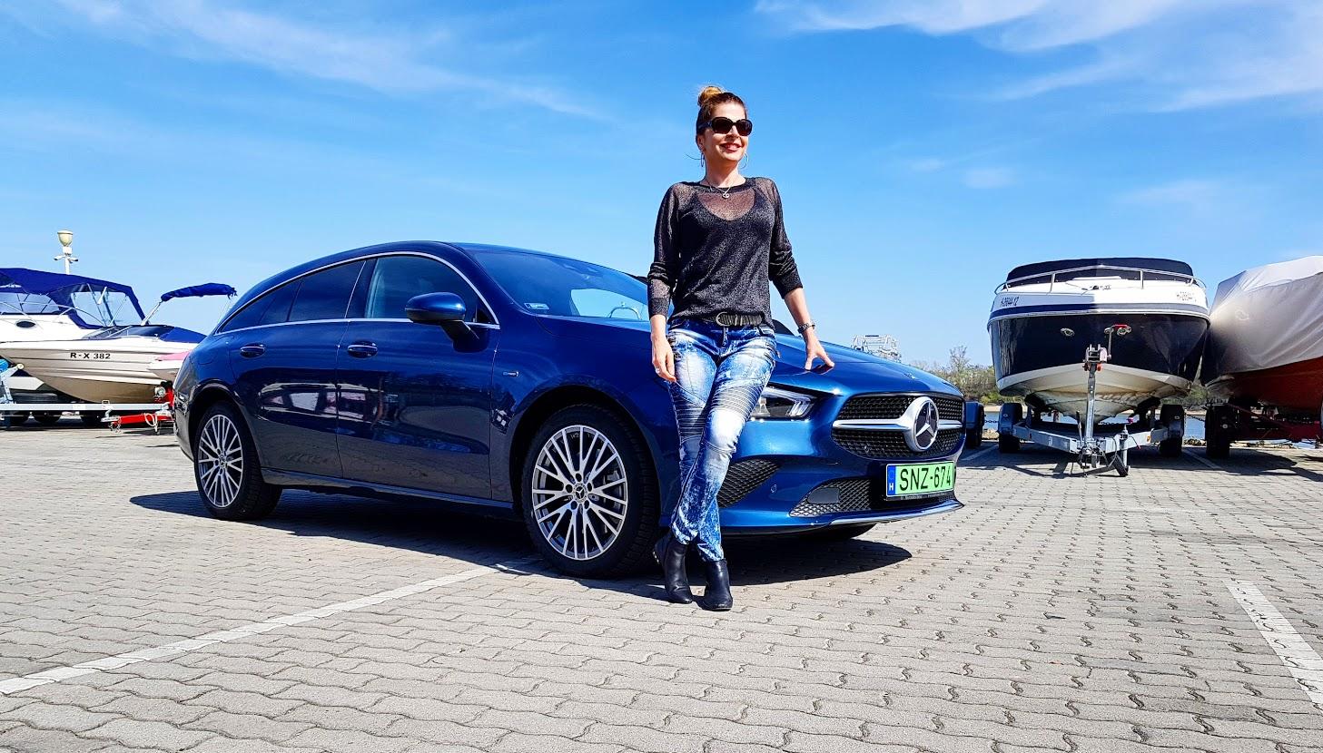 Mercedes Benz CLA 250e Shooting Brake teszt Szebeni Katalin