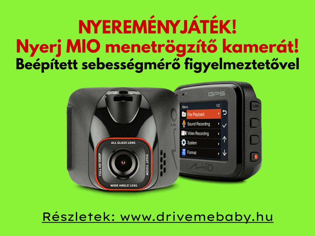 mio mivue fedélzeti kamera speed cam alert funkcióval