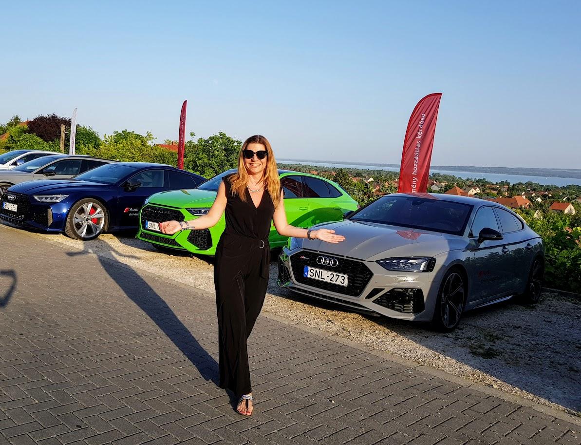 Audi RS roadshow Szebeni Katalin