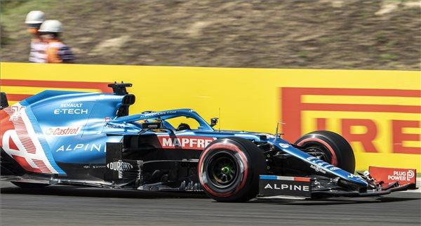 Fernando Alonso a Hungaroringen 2021