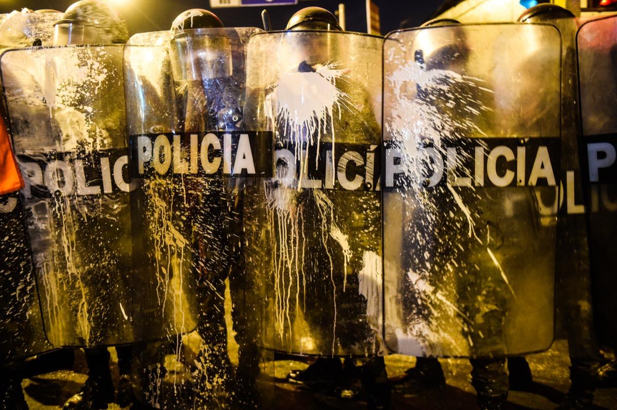 rendőrség kordon